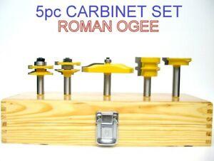 5-pc-1-2-SH-3-1-2-034-Dia-Ogee-Raised-Panel-amp-Ogee-R-amp-S-Router-Bit-Set-S