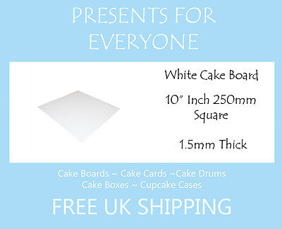 "Birthdays 25 x 6/"" White Square Cake Boards 2.1mm Thick Wedding"