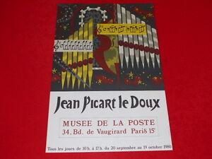 AFFICHE-JEAN-PICART-LE-DOUX-EXPO-MUSEE-DE-LA-POSTE-PARIS-1980-LITHO-40x60