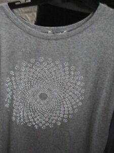 Women Byjulia Suitable For Men And Children Ladies Gray/studded Top S/s L/xl