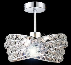 Design-Deckenleuchte-Kristall-Kronleuchter-Flur-Leuchte-Deckenlampe-Lampe-Luester