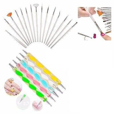 20pcs Nail Art Design Set Dotting Painting Drawing Polish Brush Pen Tool kit