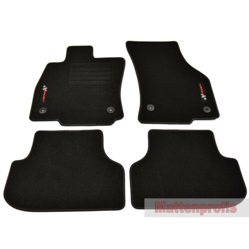 para Seat Leon III FR 5f a partir del año 09//2012 Mp gamuza logotipo tapices 4 pzas VBR
