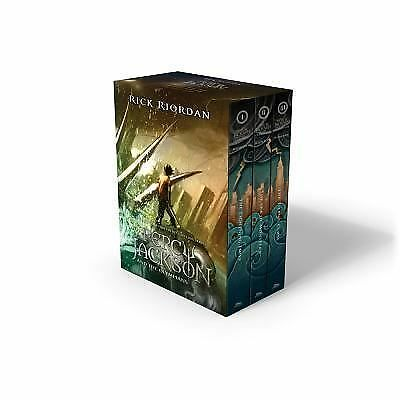 Percy Jackson and the Olympians 3 Book Paperback Boxed Set with New Covers by...