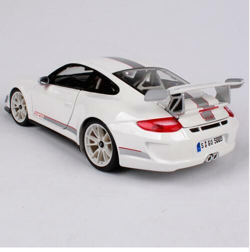 Bburago 1 18 Porsche 911 GT3 RS 4.0 Racing Car Vehicle Diecast Model blanc