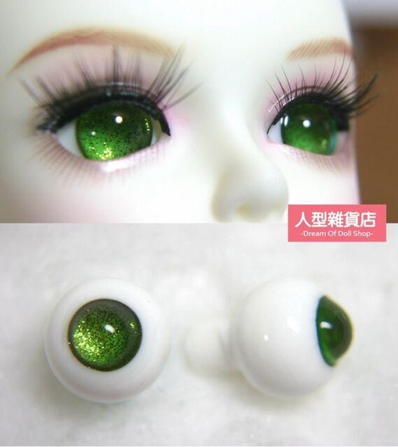 14mm  For BJD DOD AOD MK OK RD Doll Dollfie Glass Eyes Outfit Green 5