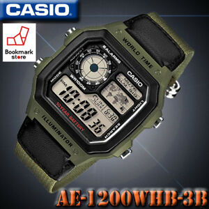 c487878f781 NEW CASIO AE-1200WHB-3B Men s Black Digital Sports Watch World Time ...