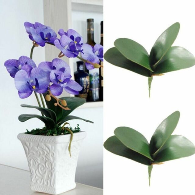 Artificial Butterfly Orchid Silk Leaf Fake Flowers Home Wedding Party Decors k