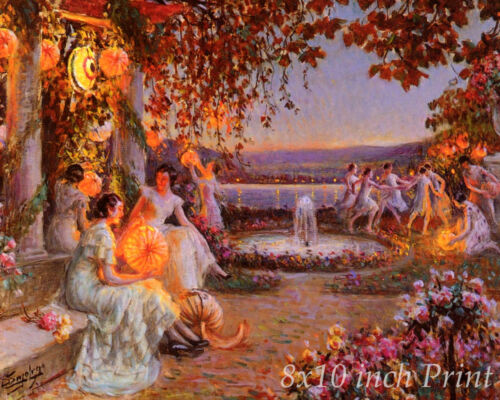 The Chinese Lanterns by Delphin Enjolras Women Lights 8x10 Print Picture 1863
