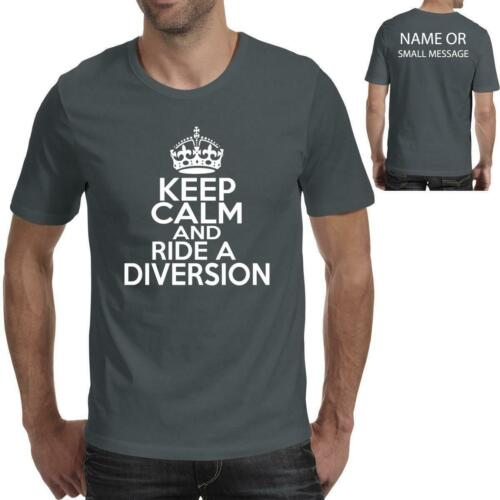 Keep Calm and Ride a DIVERSION Fathers Day T-Shirt Ideal Birthday Gift