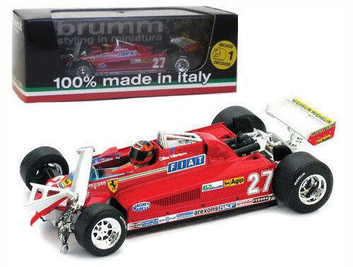 Brumm r437-ch Ferrari 126ck Turbo Canadian Gp 1981-G Villeneuve 1//43 Escala
