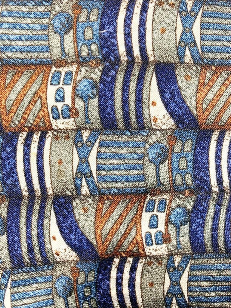 XMI Unterschrift Blau Khaki Peru Schöne Deko Seide Krawatte MAR1721B #C39