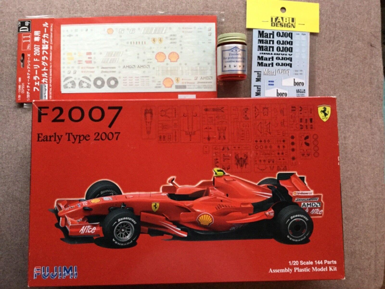 1 20 Fujimi Ferrari F2007, Fujimi upgrade decal,Tabu tobacco decals, match paint