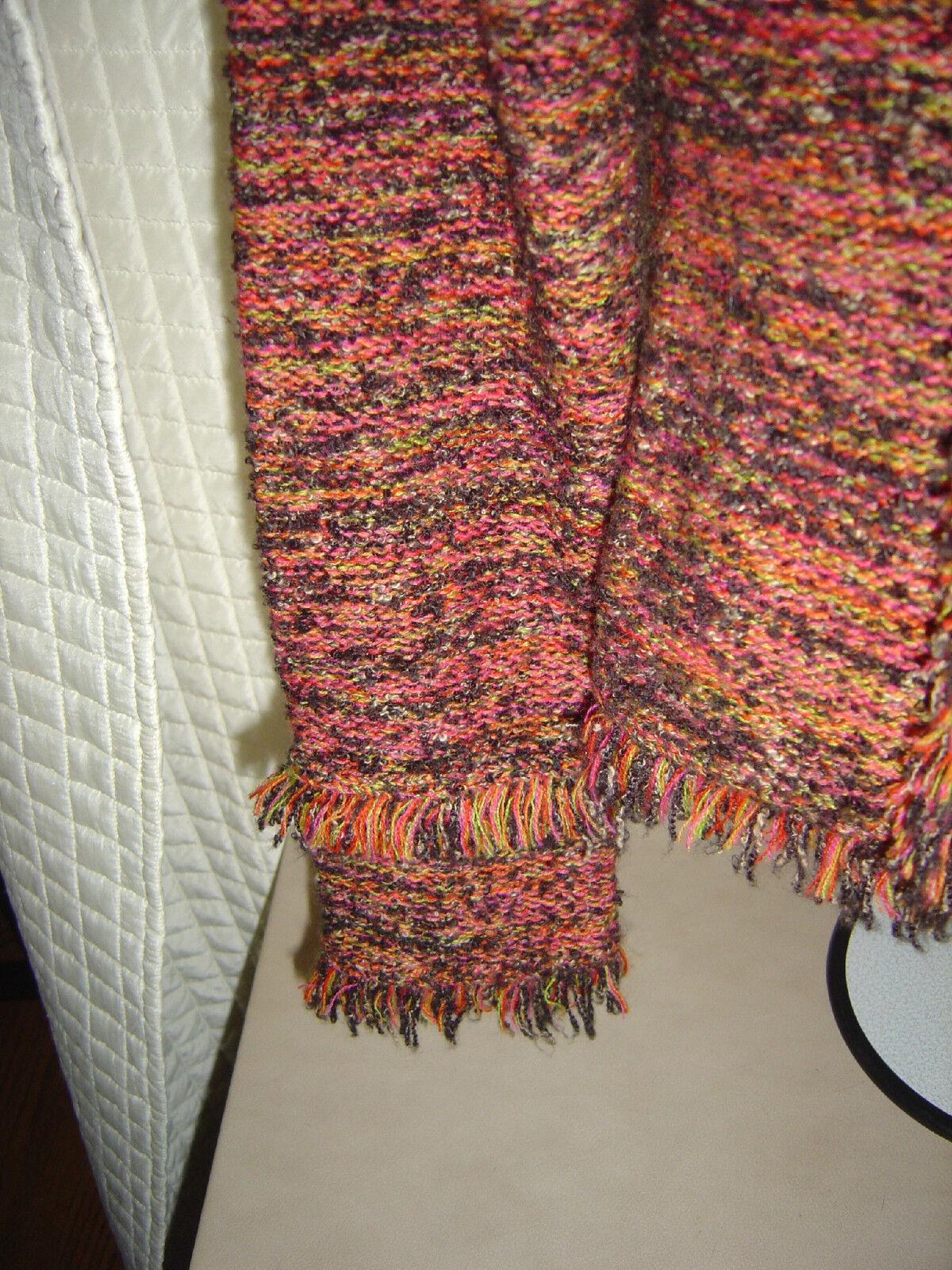 One Girl Who cardigan Faith Faith Faith multi colord double breasted acrylic wool blend f64bcc
