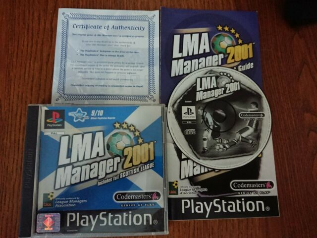 IMA Manager 2001-includes full Scottish League ps1 gute Playstation 1