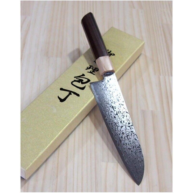 Miura-JAPONAIS SANTOKU Couteau - 69 couches d'acier Damas-Taille  18 cm