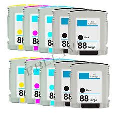 10 CARTUCCE STAMPANTE PER HP 88 OfficeJet Pro L7780, L7680, L7880, L7000, K5400