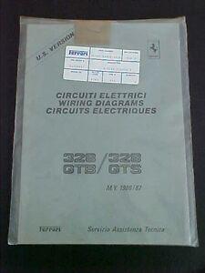 ferrari 328 wiring diagrams workshop manual book gtb gts 440 86 us rh ebay com ferrari 348 wiring diagrams ferrari 328 gts wiring diagram