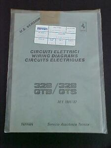 ferrari 328 wiring diagrams workshop manual book gtb gts 440 86 us rh ebay com Ferrari 355 Ferrari 348