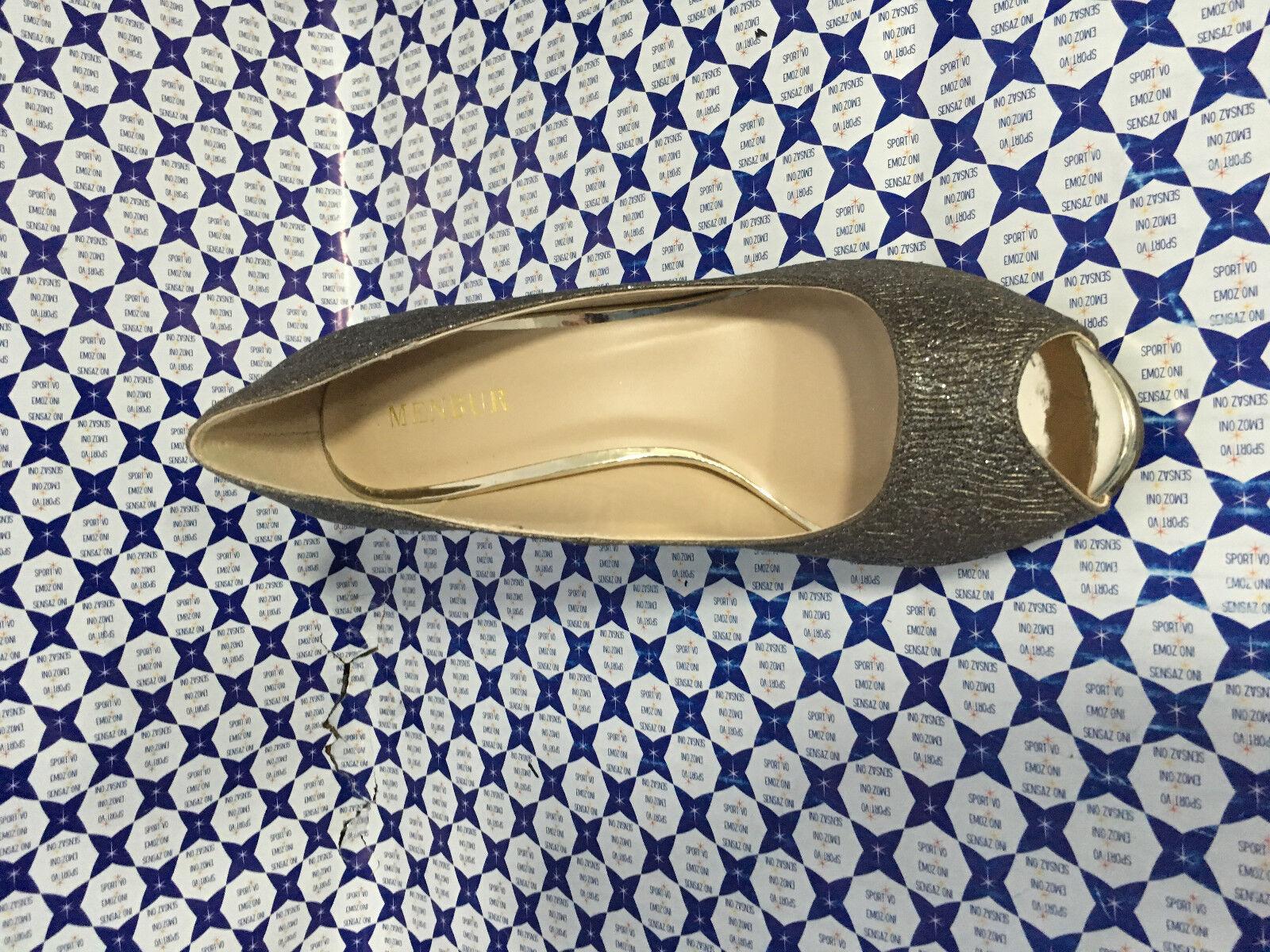 Scarpe Tacco Open 10 Menbur Donna - Open Tacco Toe Plato Interno - Piombo - 7789 73f440
