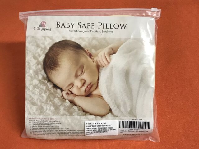 346db1de3 Official Little Poppetz® Newborn Baby Safe Pillow Memory Foam New Sealed!