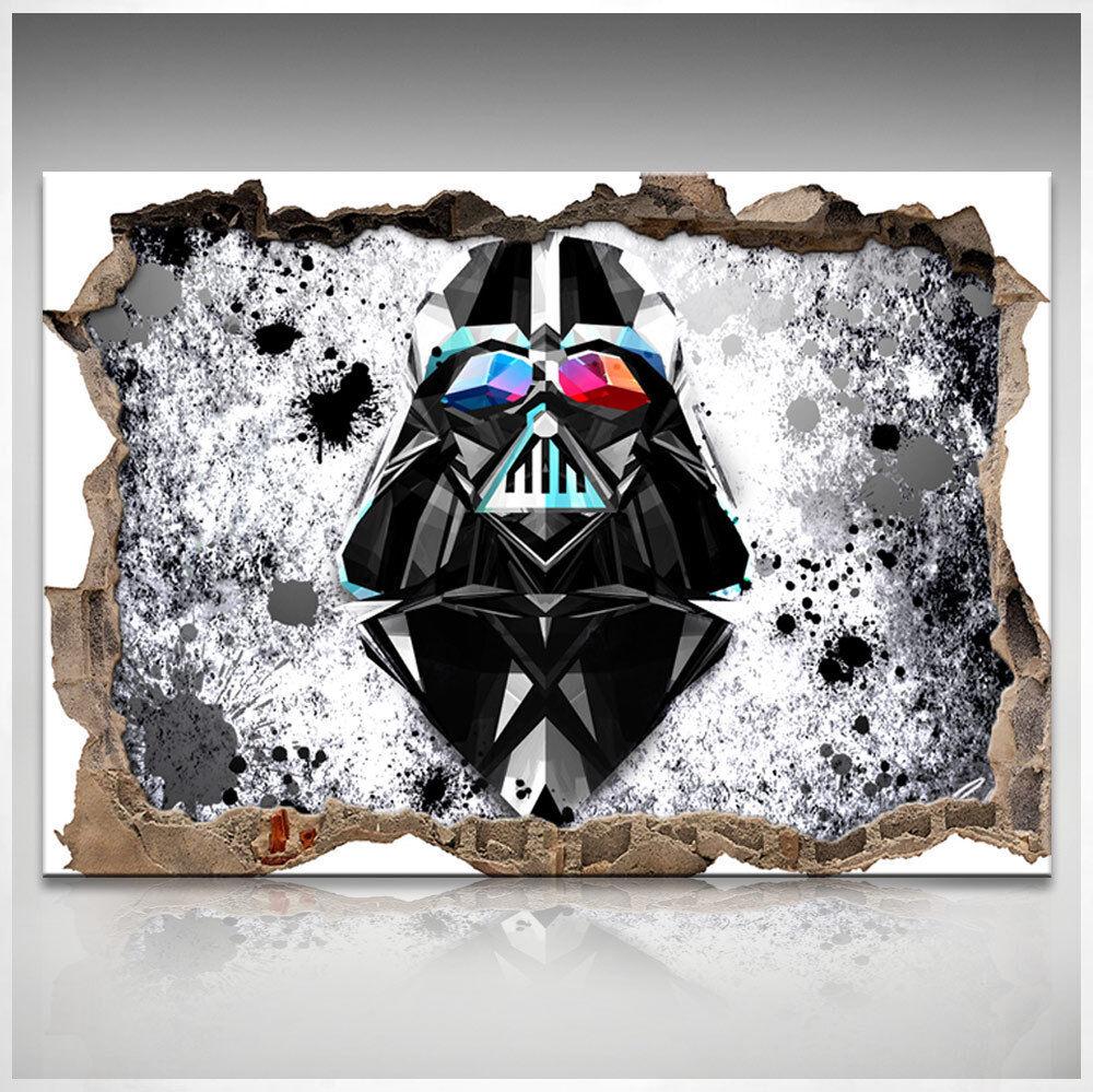 3D Star Wars Darth Vader Bild Leinwand Abstrakte Kunst Bilder Wandbilder D0892