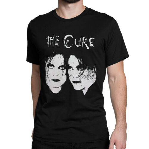 The Cure Black T-Shirt Robert Smith Graphic Tee