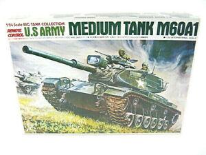 Bandai-1-24-US-Army-M60A1-Medium-Tank-Wired-R-C-Vintage-Kit