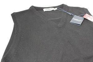 Proquip-Lambswool-Easy-Care-Wool-Golf-V-Neck-Slip-Over-Black-S-M-L-XL-10-22