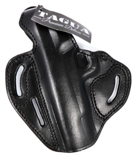TAGUA Premium Deluxe LEFT HAND Leather Thumb Break Belt Holster PICK GUN /& COLOR