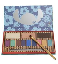 Disney Lilo & Stitch Ohana 12 Color Eye Shadow Palette Make Up Brush Set NWT!