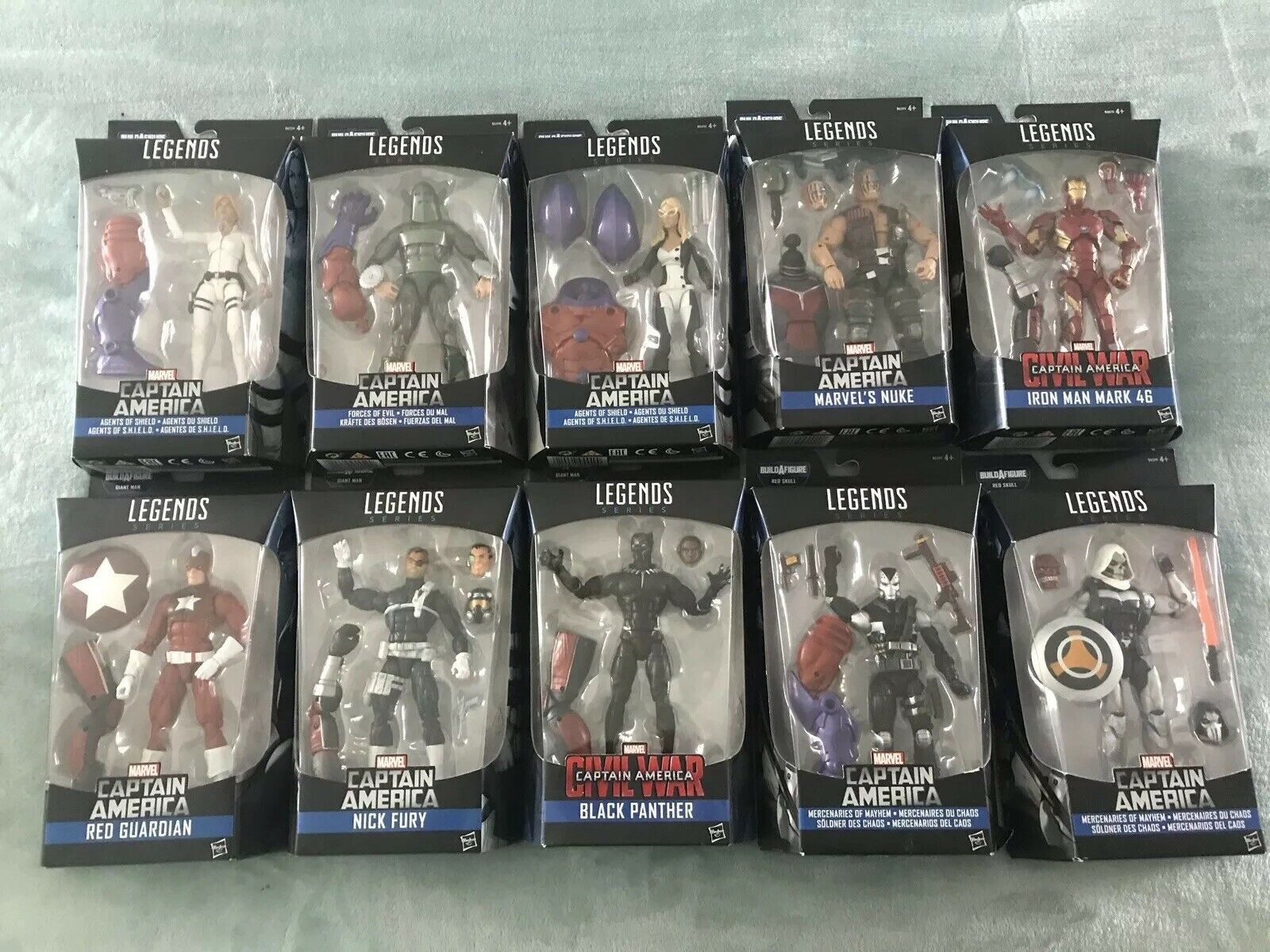Marvel Legends Captain America Avengers Nick Fury Series - SET SET SET OF 10 c0770b