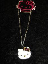 new  Hello Kitty charm necklace Sanrio silver tone Fashion Jewelry leopard bow