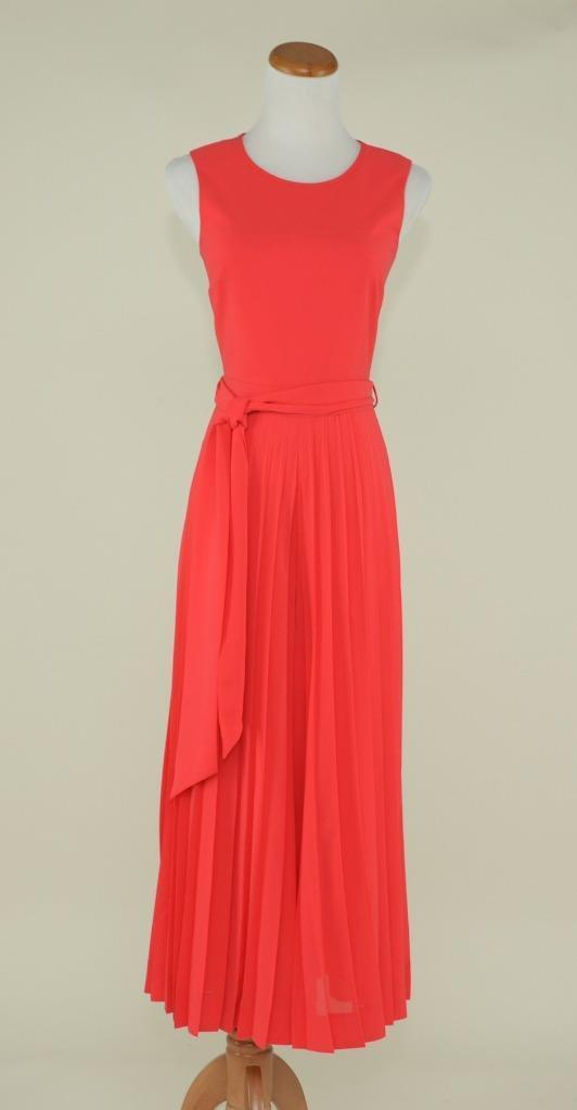 J.CREW  COLLECTION WIDE LEG PLEATED JUMPSUIT 8 rot WORK DRESS G3178