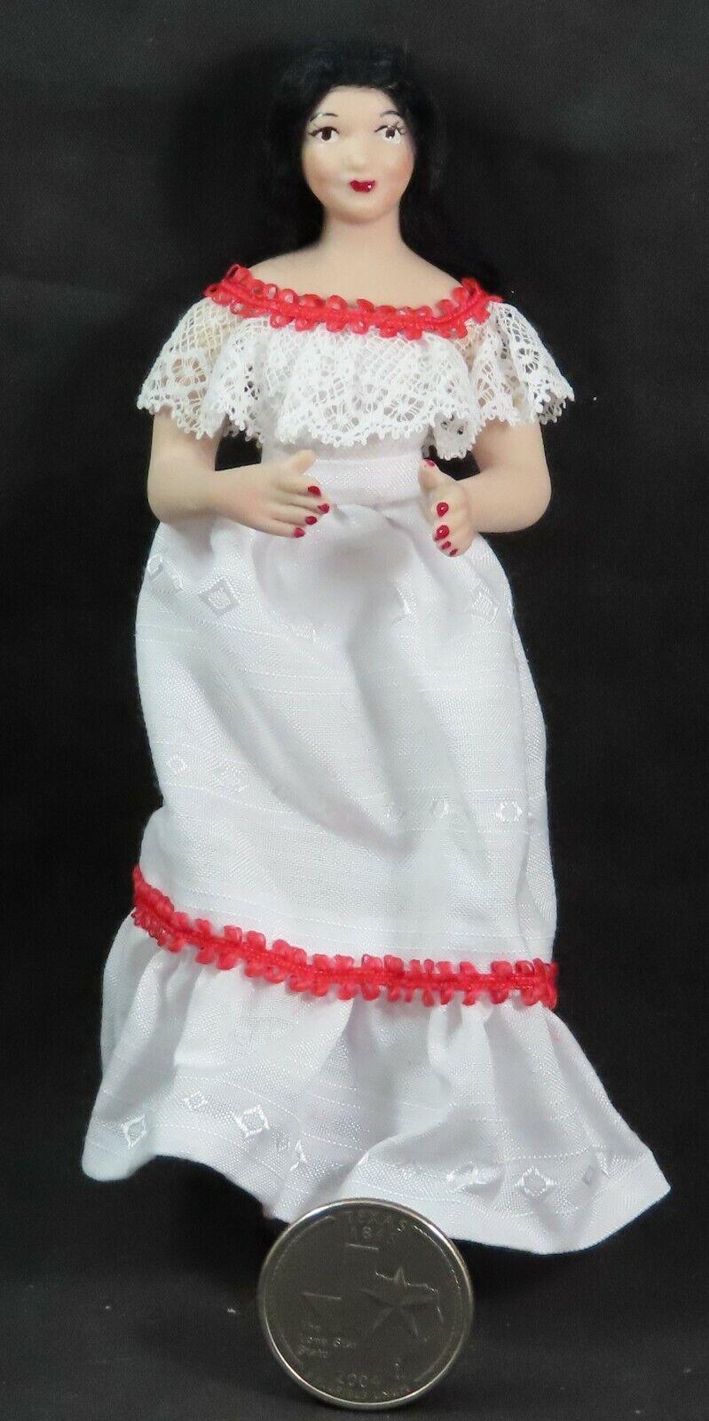1 12 Mujer Muñeca Casa De Muñecas en Miniatura de cerámica hispano mexicana  4971 Thomas