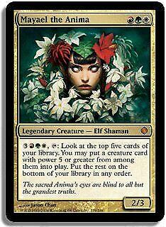Oprecht Mayael The Anima Shards Of Alara Nm-m White Red Green Mythic Rare Card Abugames Puur Wit En Doorschijnend