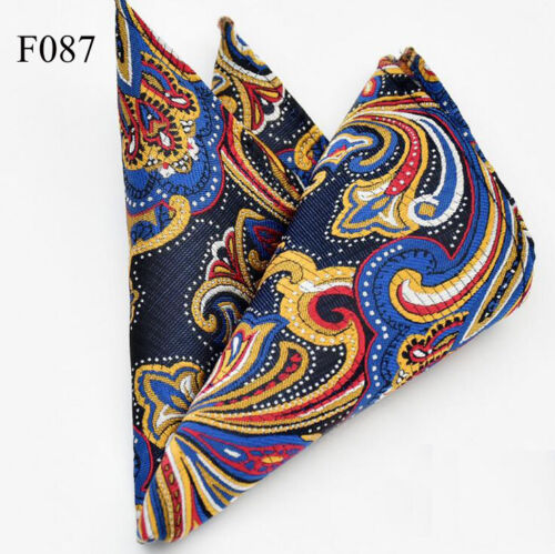 "100 Color 10/""  Men's Vintage Handkerchief 100/% Silk Man Pocket Square Suit Hanky"
