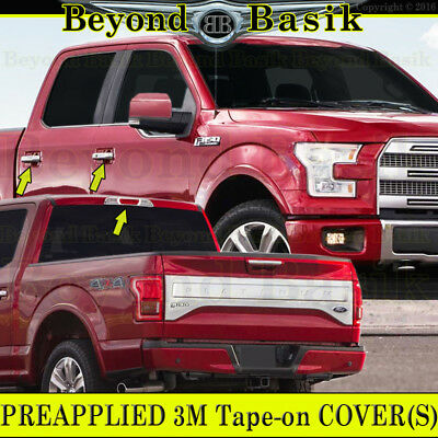 For 15 16 17 18 Ford F150 Pickup Truck Chrome Door Handle Covers Crew Cab 4DRs
