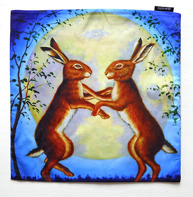 Art Cushion Cover Night Dancing Hares Oh So Soft Home Decor Rabbit  TB103