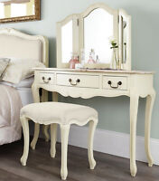 Juliette Shabby Chic Champagne Dressing Table,stunning Cream Dressing Table Only