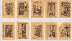 5 Séries étiquettes Allumettes Belgique BN21242 Monuments 2 Liège GmGYZ2gm-09123014-288813893