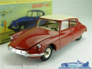 DINKY-TOYS-CITROEN-DS-19-voiture-Modele-Echelle-1-43-530-Rouge-Creme-Atlas-Editions-K8Q