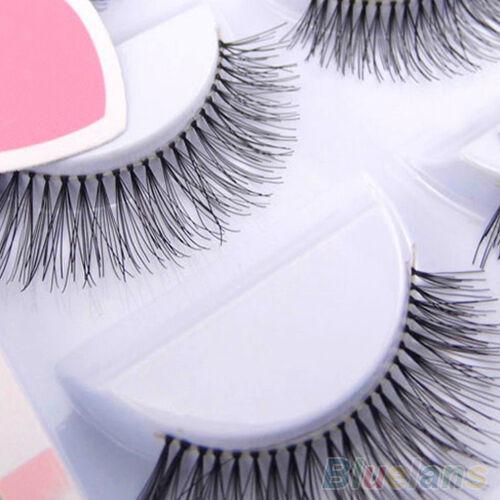 5 Pairs Natural Sparse Cross Eye Lashes Extension Makeup Long False Eyelashes