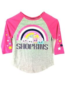 Shopkins Pink,Heather Gray T-shirt  for girls Size  S ( x / 6x) NEW