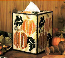 Plastic Canvas PATTERN - Autumn Boutique Tissue Box Cover - Halloween