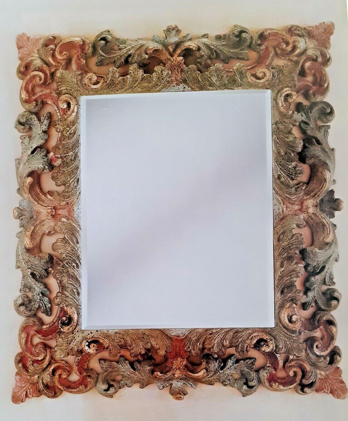 Specchio design italy luxury furniture cornice dipinta  barocco, dorato,
