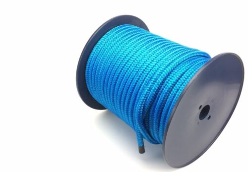 10mm Double Braid on Braid Polyester Rope Royal Blue Quality Docklines Marine