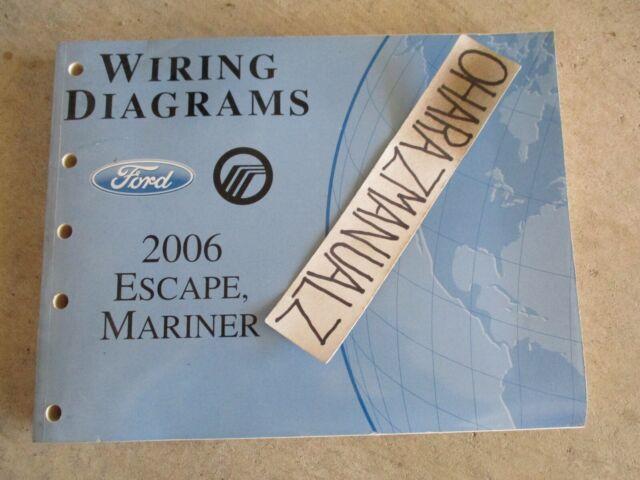 2006 Ford Escape Mercury Mariner Wiring Diagrams Manual