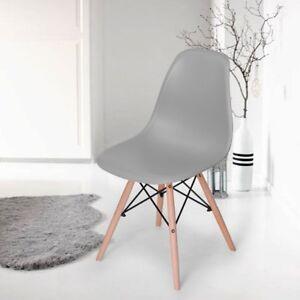 Dettagli su 4X Sedie sala da pranzo Retro Style Nordic Design Grigio 53x 47x 82CM