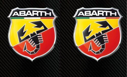 2Pcs Abarth Fiat 500 Arrière Coffre//côtés Autocollant insignes emblème 735495891